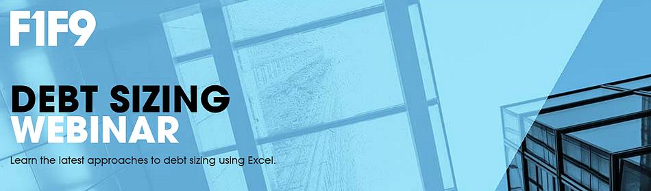 Webinar: Debt sizing in Excel